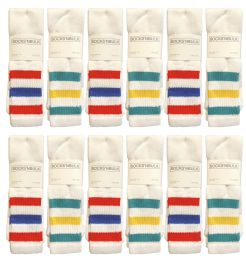 Yacht & Smith Men's 31-Inch Terry Cushion Cotton Extra Long Tube Socks- King Size 13-16