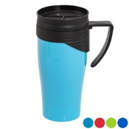 Travel Mug 15 Oz. With Twist Lid 4 Assorted Colors 48 pack