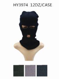 Unisex Winter Ski Mask Black Only 36 pack