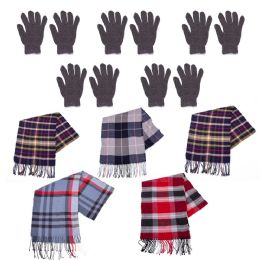 Winter Gloves and Bulk Scarves Combo Pack 96 pack