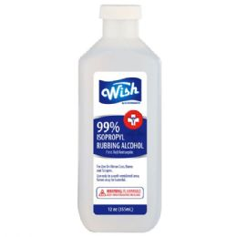 Wish 12 oz 50% Rubbing Alcohol 24 pack