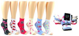 Women's Pedicure Socks - Assorted Prints - Size 9-11 240 pack