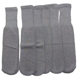 Women Solid Grey Tube Sock Size 9-11