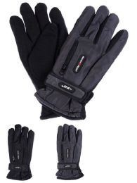 Yacht & Smith Mens Water Resistant Warm Ski Gloves With Zipper Pocket 24 pack