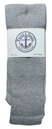 Yacht & Smith Men's 32 Inch Premium Cotton King Size Extra Long Gray Tube Socks- Size 13-16 BULK BUY 240 pack
