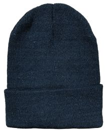 Yacht & Smith Black Unisex Winter Warm Beanie Hats, Cold Resistant Winter Hat