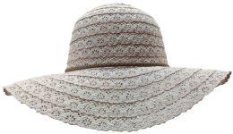 Yacht & Smith Cotton Crochet Sun Hat Soft Lace Design, Rose