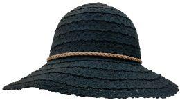 Yacht & Smith Cotton Crochet Sun Hat Soft Lace Design, Black
