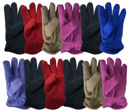 Yacht & Smith Kids Warm Winter Colorful Fleece Gloves Assorted Colors Bulk Buy 144 pack