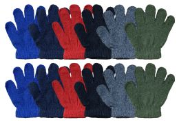 Yacht & Smith Kids Warm Winter Colorful Magic Stretch Gloves Ages 2-5 240 Pairs Bulk Buy 240 pack