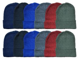 Yacht & Smith Kids Winter Beanie Hat Assorted Colors Bulk Pack Warm Acrylic Cap 144 pack