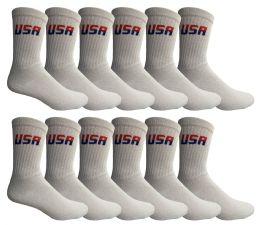 Yacht & Smith Men's King Size Premium Cotton Crew Socks USA Size 13-16 60 pack