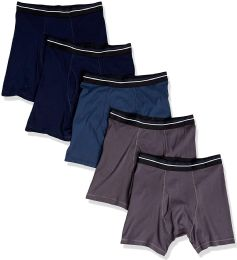 Yacht & Smith Mens 100% Cotton Boxer Brief Assorted Colors Size Large 24 pack