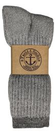 Yacht & Smith Mens Terry Lined Merino Wool Thermal Boot Socks Bulk Buy 120 pack