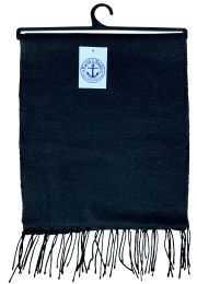 Yacht & Smith Solid Black Color Warm Winter Fleece Scarves Bulk Buy 144 pack