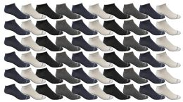Yacht & Smith Mens Thin Comfortable Lightweight Breathable No Show Sports Ankle Socks, Solid Assorted Colors Bulk Buy 240 pack