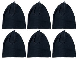 Yacht & Smith Unisex Multi Functional Fleece Beanie Face Cover And Scarf , Solid Black 240 pack