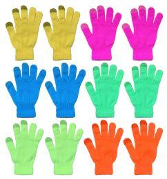 Yacht & Smith Unisex Neon Winter Texting Gloves, Warm Thermal Winter Gloves Bulk Buy