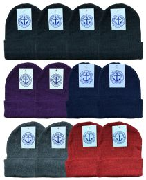 Yacht & Smith Unisex Winter Knit Hat Assorted Colors 144 pack