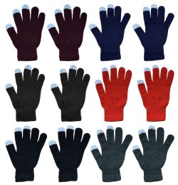 Yacht & Smith Unisex Winter Texting Gloves, Warm Thermal Winter Gloves Assorted Colors Bulk Buy 144 pack