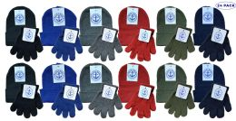 Yacht & Smith Wholesale Kids Beanie And Glove Sets (beanie Glove Set, 24) 24 pack