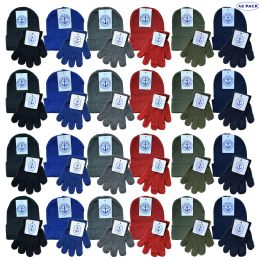Yacht & Smith Wholesale Kids Beanie and Glove Sets (Beanie Glove Set, 48) 48 pack