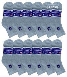 Yacht & Smith Women's Diabetic Cotton Ankle Socks Soft NoN-Binding Comfort Socks Size 9-11 Gray 6 pack