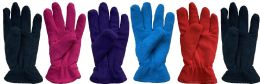 Yacht & Smith Women's Double Layer Heavy Fleece Gloves BULK BUY 144 pack
