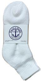 Yacht & Smith Women's Premium Cotton Ankle Socks White Size 9-11 BULK PACK 240 pack