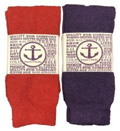 Yacht & Smith Women's Thermal Non-Slip Tube Socks, Gripper Bottom Socks 12 pack