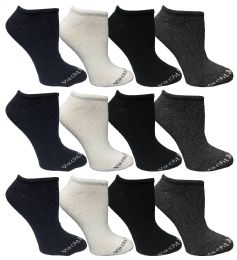 Yacht & Smith Womens Cotton Low Cut No Show Loafer Socks Size 9-11 Solid Assorted BULK BUY 480 pack