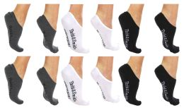 Yacht & Smith Womens Cotton No Show Loafer Socks With Anti Slip Silicone Strip 60 pack