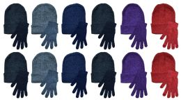 Yacht & Smith Womens Warm Winter Sets 72 Pairs Of Gloves And 72 Hats 144 pack