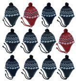 Yacht & Smith Kids Winter Fleece Helmet Hat Assorted Colors, Unisex 36 pack