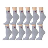 USA American Flag Gray Low Cut Ankle Socks, Size 9-11