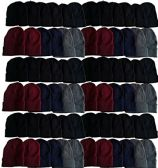 180 Pack Case Mens Womens Warm Winter Hats Wholesale Bulk, Unisex, by WSD (Assorted)