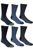6 Pairs Of excell Mens Premium Winter Wool Socks With Cable Knit Design (1508)