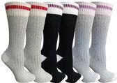 6 Pairs of WSD Merino Wool Socks for Women, Soft Warm Thermal Sock, Moisture Wicking