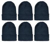 6 Pack of SOCKSNBULK Mens Womens Winter Beanie Hats, Thermal Sport Warm