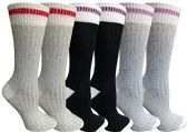 Merino Wool Socks for Women, Soft Warm Thermal Sock, Moisture Wicking 6 pack