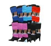 12 Pairs of Womens Leg Warmers, Warm Winter Soft Acrylic Assorted Colors by WSD (Assorted B)