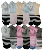 Women's Cotton No Show Ankle Socks, , Assorted Colorful Patterns