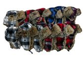 excell Men Faux Fur Aviator Hat, One Size (Assorted Plaid (12 Pack))