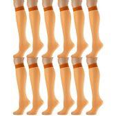 12 Pairs of excell Trouser Socks for Women, 20 Denier Knee High Dress Socks (Orange)