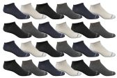 Yacht & Smith Mens Ankle Socks, No Show Athletic Sports Socks 30 Pair Pack