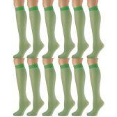 12 Pairs of excell Trouser Socks for Women, 20 Denier Knee High Dress Socks (Kelly)