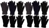 12 Pairs of WSD Winter Touchscreen Gloves for Men and Women, Warm Hands Fingers Outdoors (Assorted C, Mens)