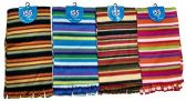 4 Pieces Womens Winter Fleece Scarfs, Warm, Striped