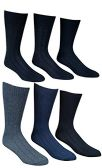 6 Pairs Of SOCKSNBULK Mens Premium Winter Wool Socks With Cable Knit Design (1506),10-13 black,grey,blue
