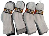 12 Pairs Of excell Kids Cotton Mixed Color Ribbed Crew Socks